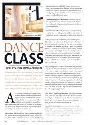 Circa Magazine - Dance Class Article 2016