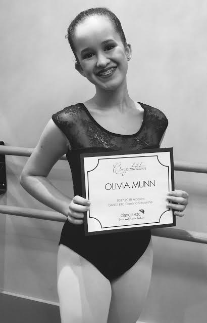 Olivia with Certificate